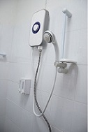 Emergency electric shower installation